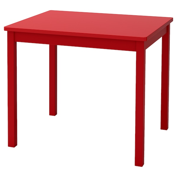 KRITTER Table enfant, rouge, 59x50 cm
