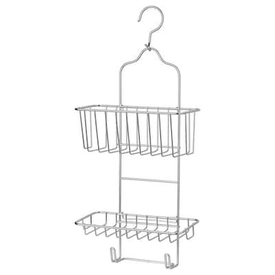 KROKFJORDEN Porte-savon pr douche , 2 étages, galvanisé, 24x53 cm