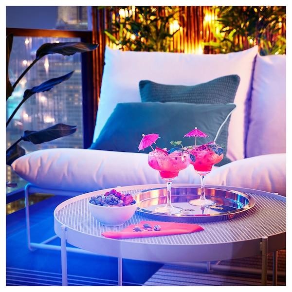 KROKHOLMEN Table basse, extérieur, beige, 73 cm