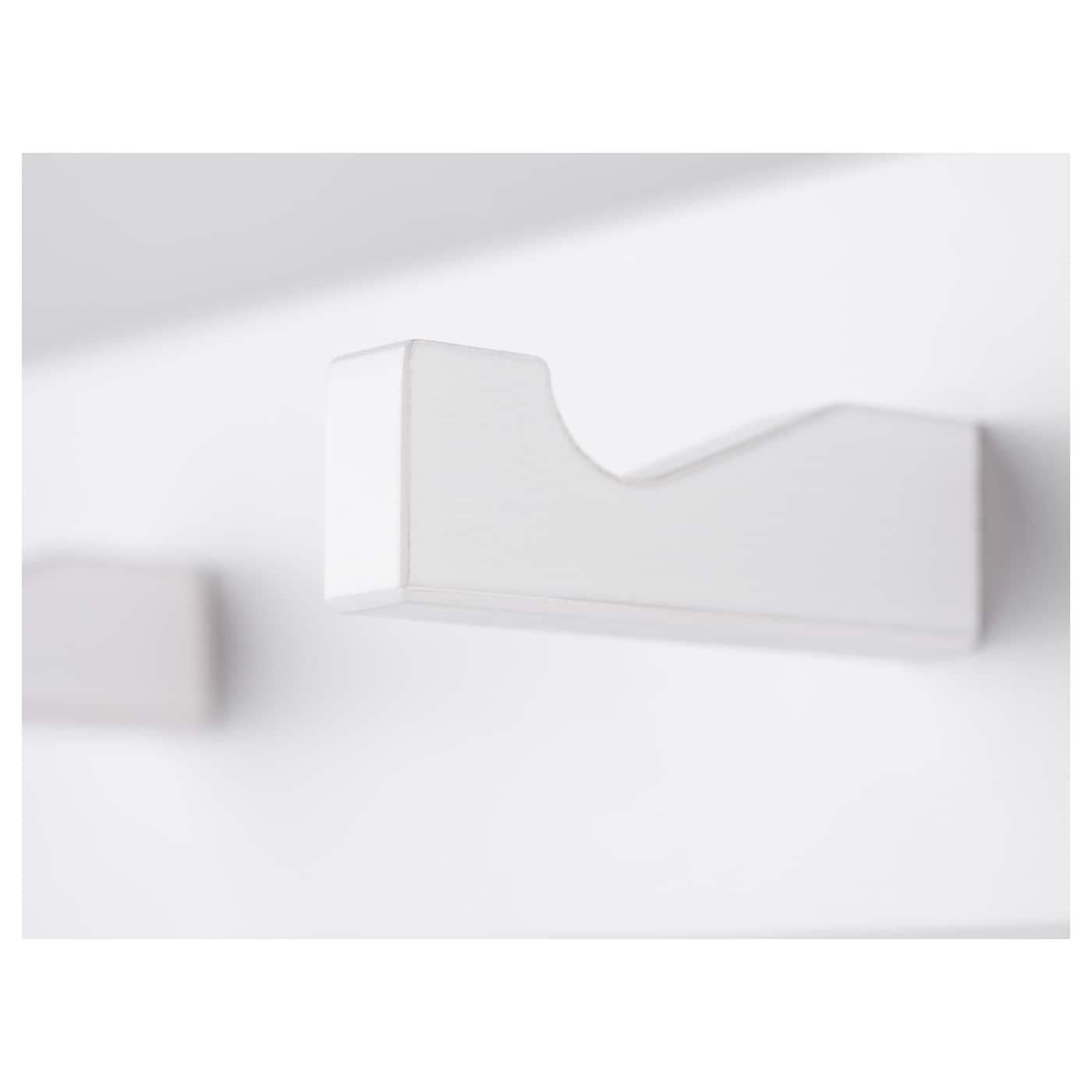 Kubbis pat re 3 crochets blanc ikea for Ikea patere