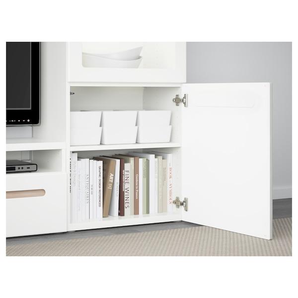 KUGGIS Boîte avec couvercle, blanc, 18x26x8 cm