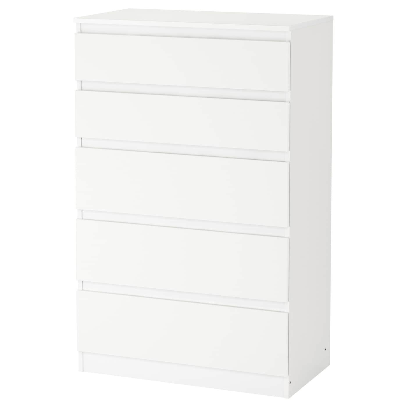 5 tiroirs tiroirs KULLEN 5 blanc Commode blanc Commode KULLEN TK1clFJ