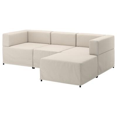 KUNGSHAMN canapé modulable 3 places Idekulla beige 237 cm 71 cm 85 cm 152 cm 23 cm 65 cm 132 cm 44 cm