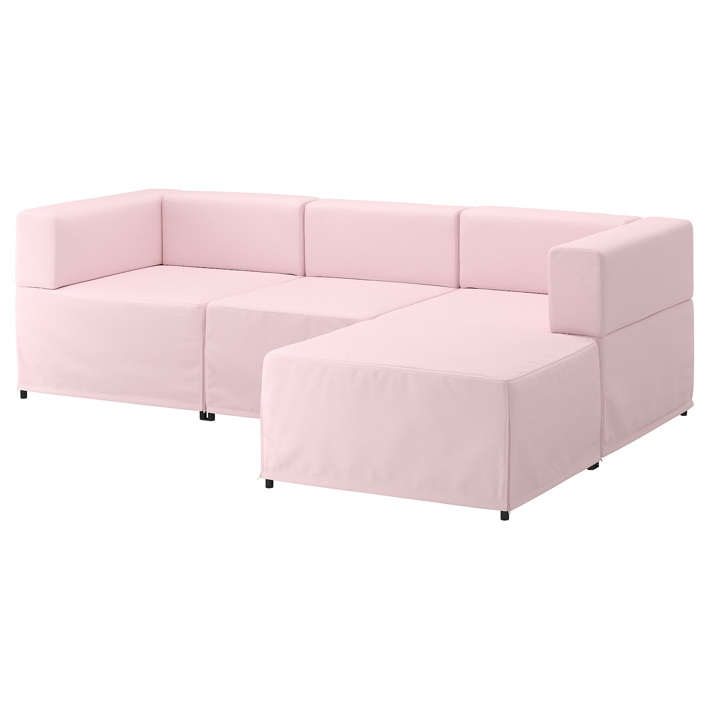 kungshamn canap modulable 3 places idekulla rose ikea. Black Bedroom Furniture Sets. Home Design Ideas