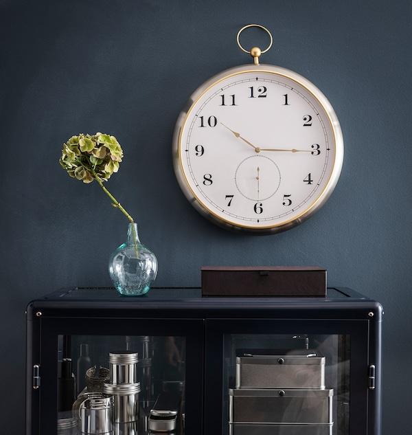 KUTTERSMYCKE Horloge murale, couleur argent, 46 cm