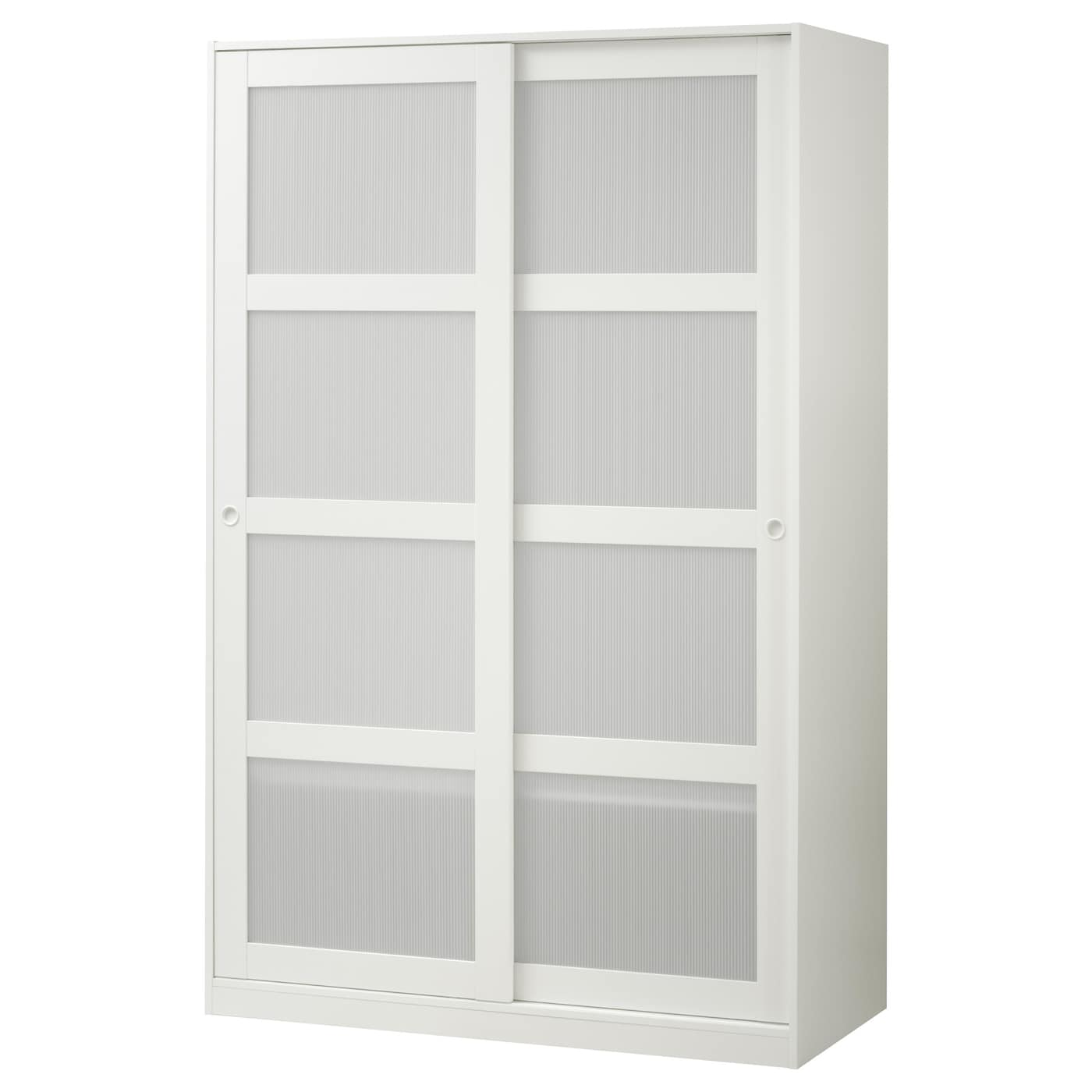 Kvikne Armoire 2 Portes Coulissantes Blanc 120×190 Cm Ikea # Meuble De Rangement Ikea