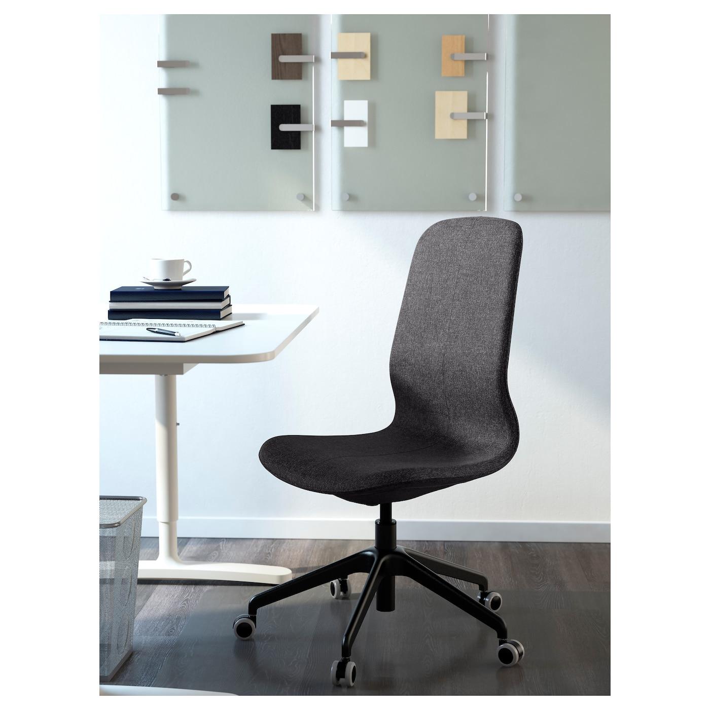 l ngfj ll chaise pivotante gunnared gris fonc noir ikea. Black Bedroom Furniture Sets. Home Design Ideas