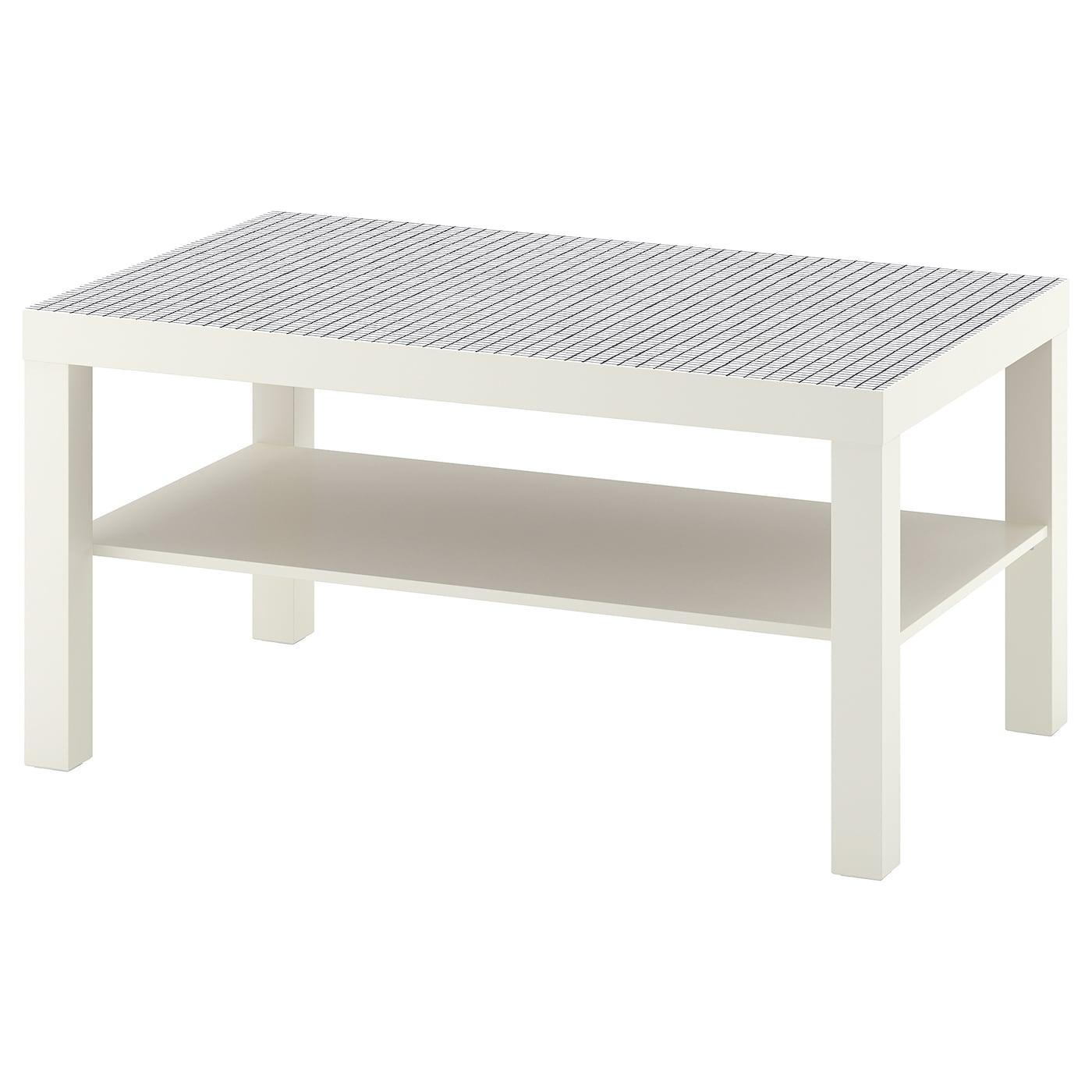 lack table basse blanc motif carreaux 90 x 55 cm ikea. Black Bedroom Furniture Sets. Home Design Ideas