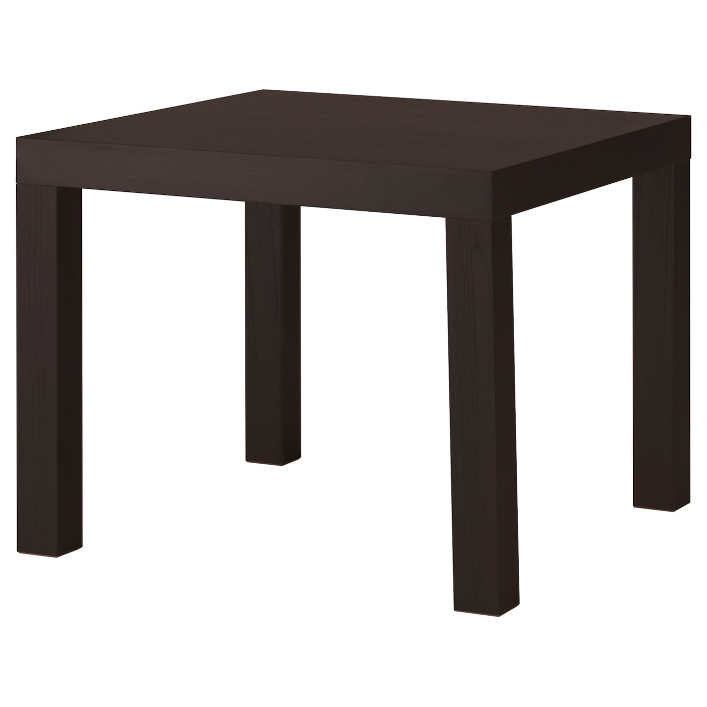 Lack table d 39 appoint brun noir 55x55 cm ikea for Ikea besta table d appoint