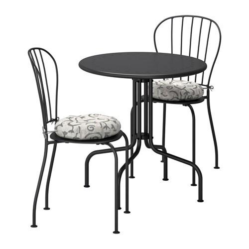 L ck table 2 chaises ext rieur l ck gris steg n beige ikea - Chaises exterieur ikea ...