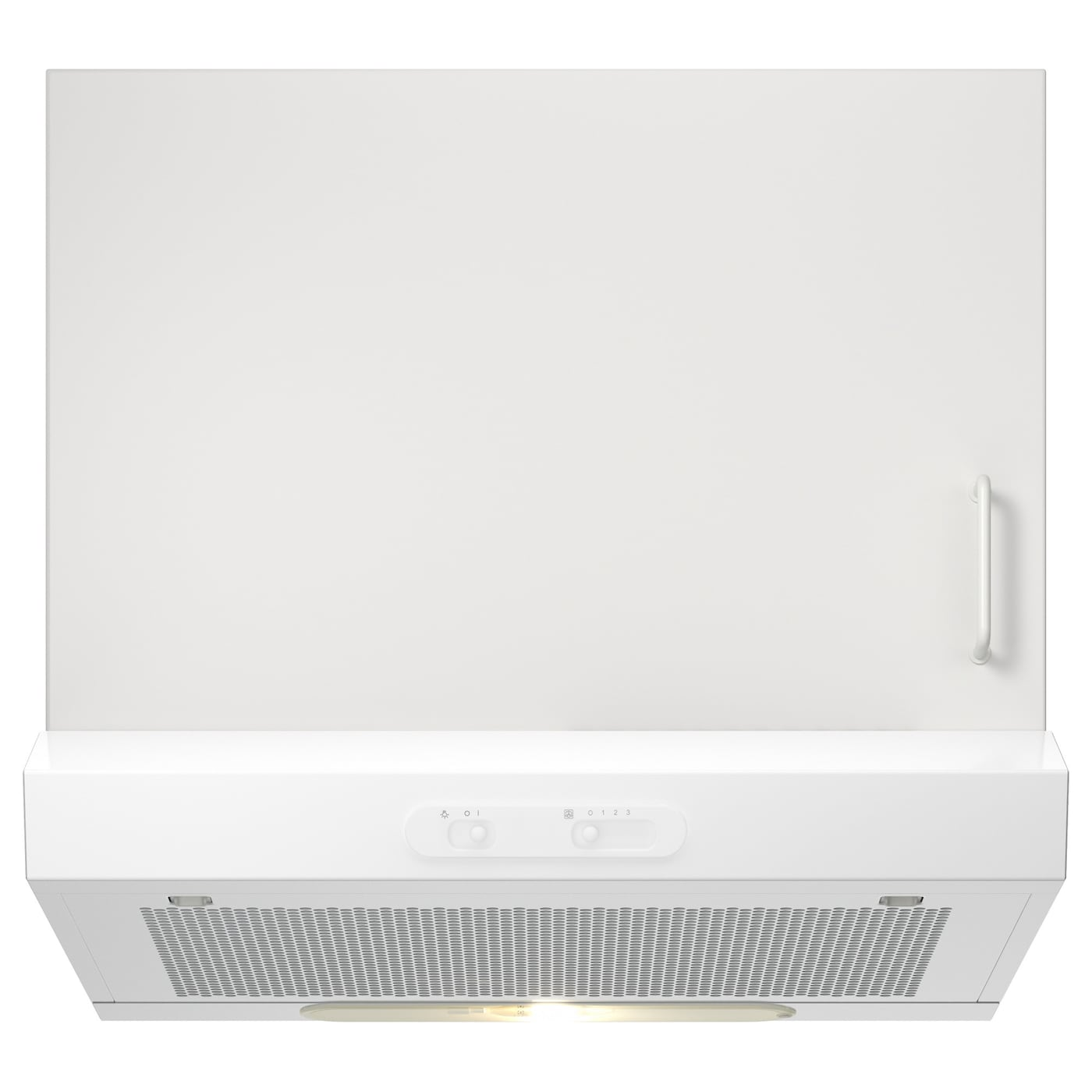 Lagan hotte aspirante murale blanc 60 cm ikea for Hotte evacuation ou recyclage