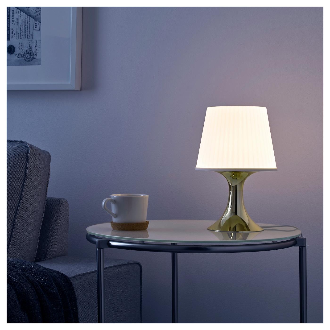 lampan lampe de table couleur or ikea. Black Bedroom Furniture Sets. Home Design Ideas