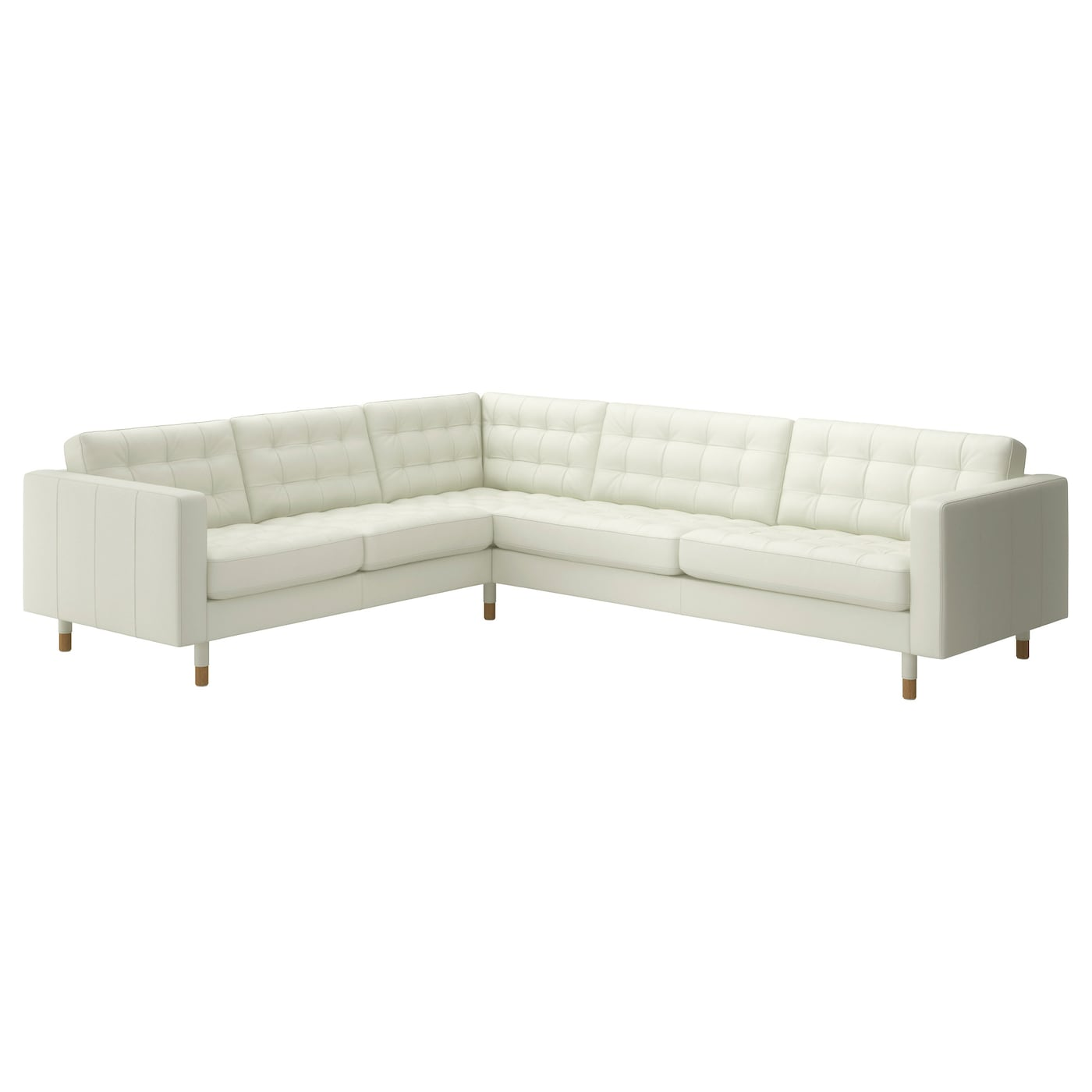 landskrona canap d 39 angle 5 places grann bomstad blanc bois ikea. Black Bedroom Furniture Sets. Home Design Ideas