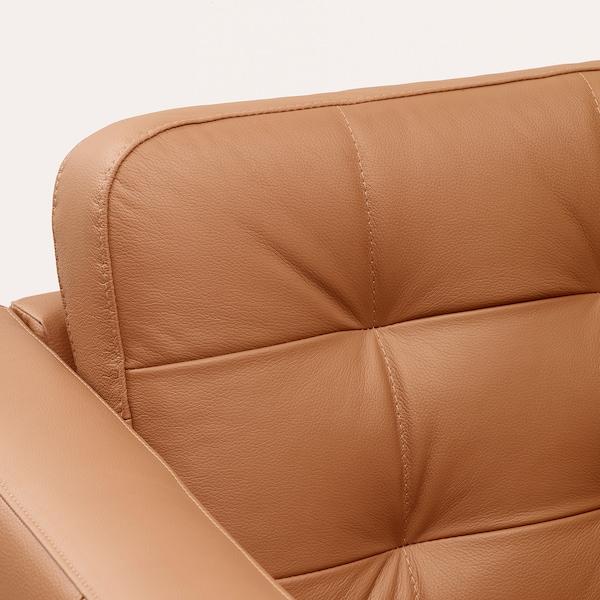 LANDSKRONA Canapé 5 places, avec méridiennes/Grann/Bomstad brun doré/bois