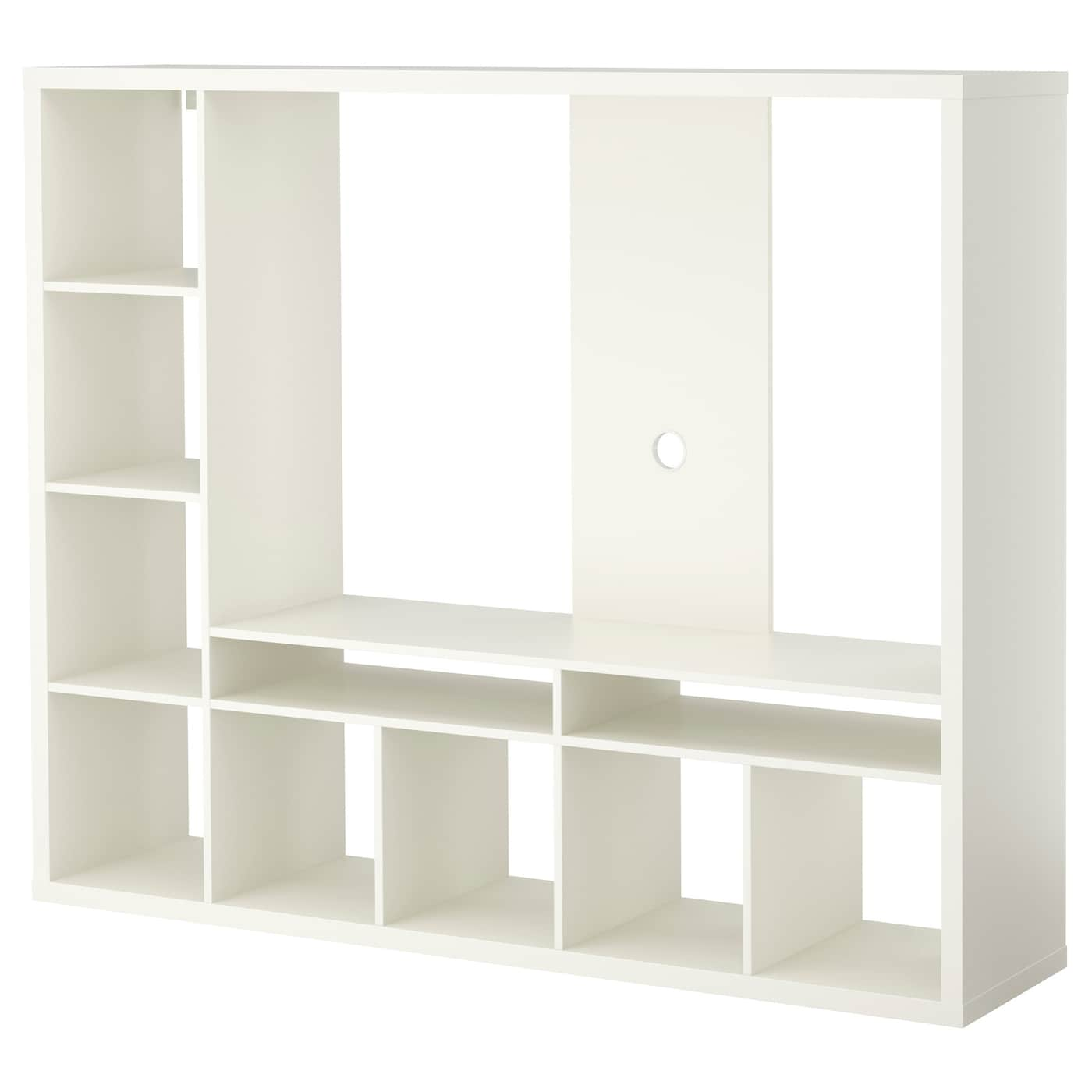 Lappland Meuble Tv Blanc 183×147 Cm Ikea # Dimension Meubles Tv Ecran Plat