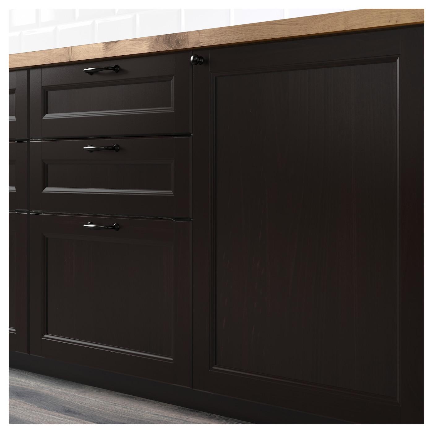 Laxarby fa ade pour lave vaisselle brun noir 45x80 cm ikea for Facade lave vaisselle encastrable