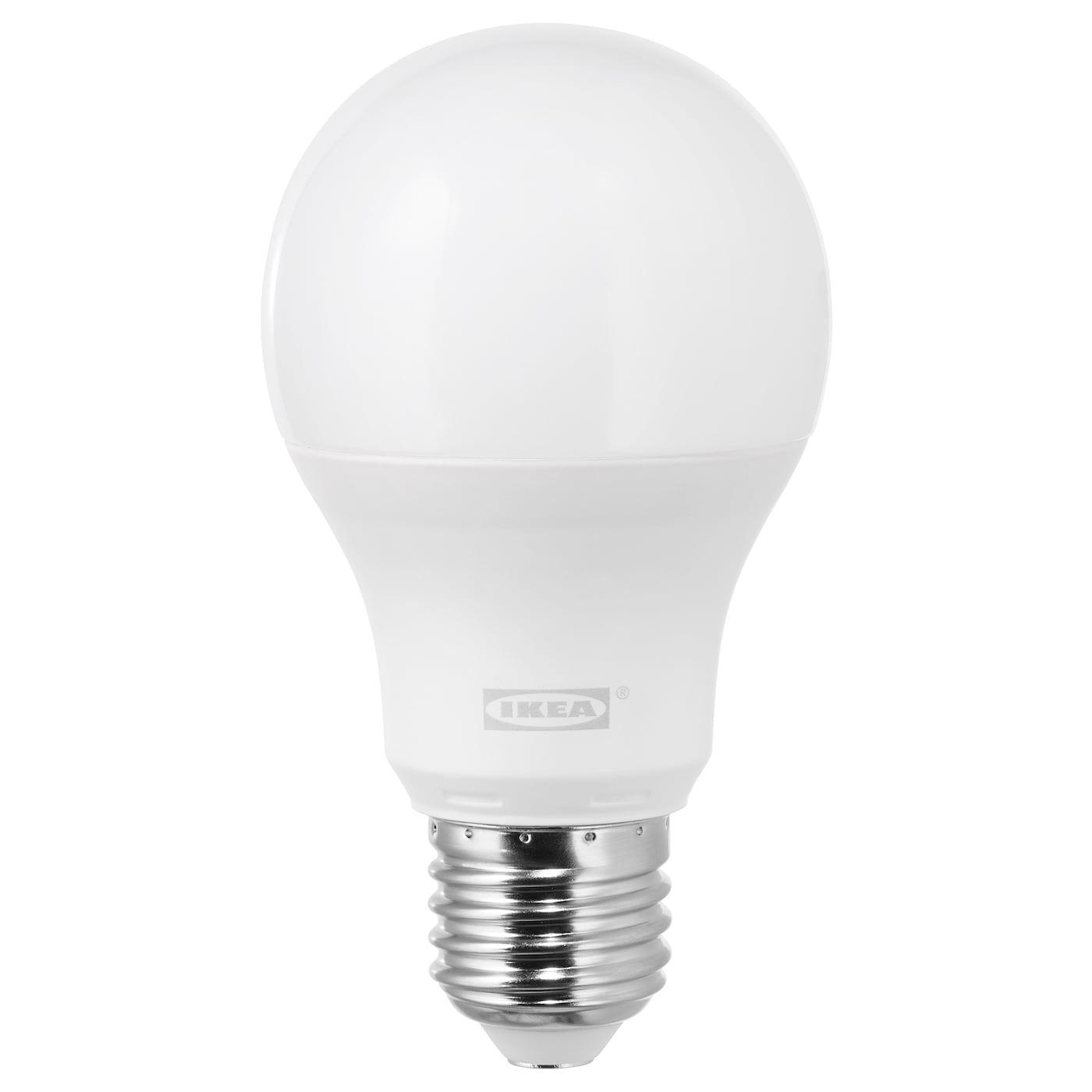 ledare ampoule led e27 1000 lumen lumière chaude/globe opalin - ikea
