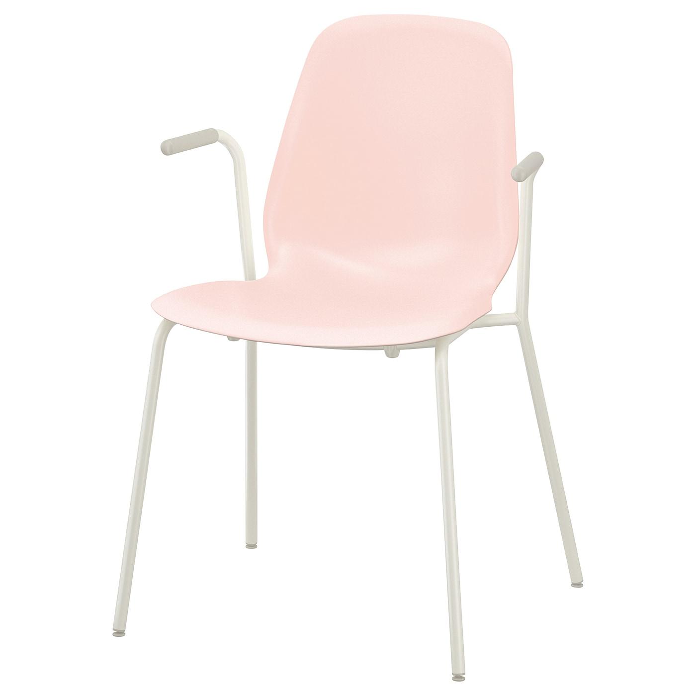 leifarne chaise accoudoirs rose dietmar blanc ikea. Black Bedroom Furniture Sets. Home Design Ideas