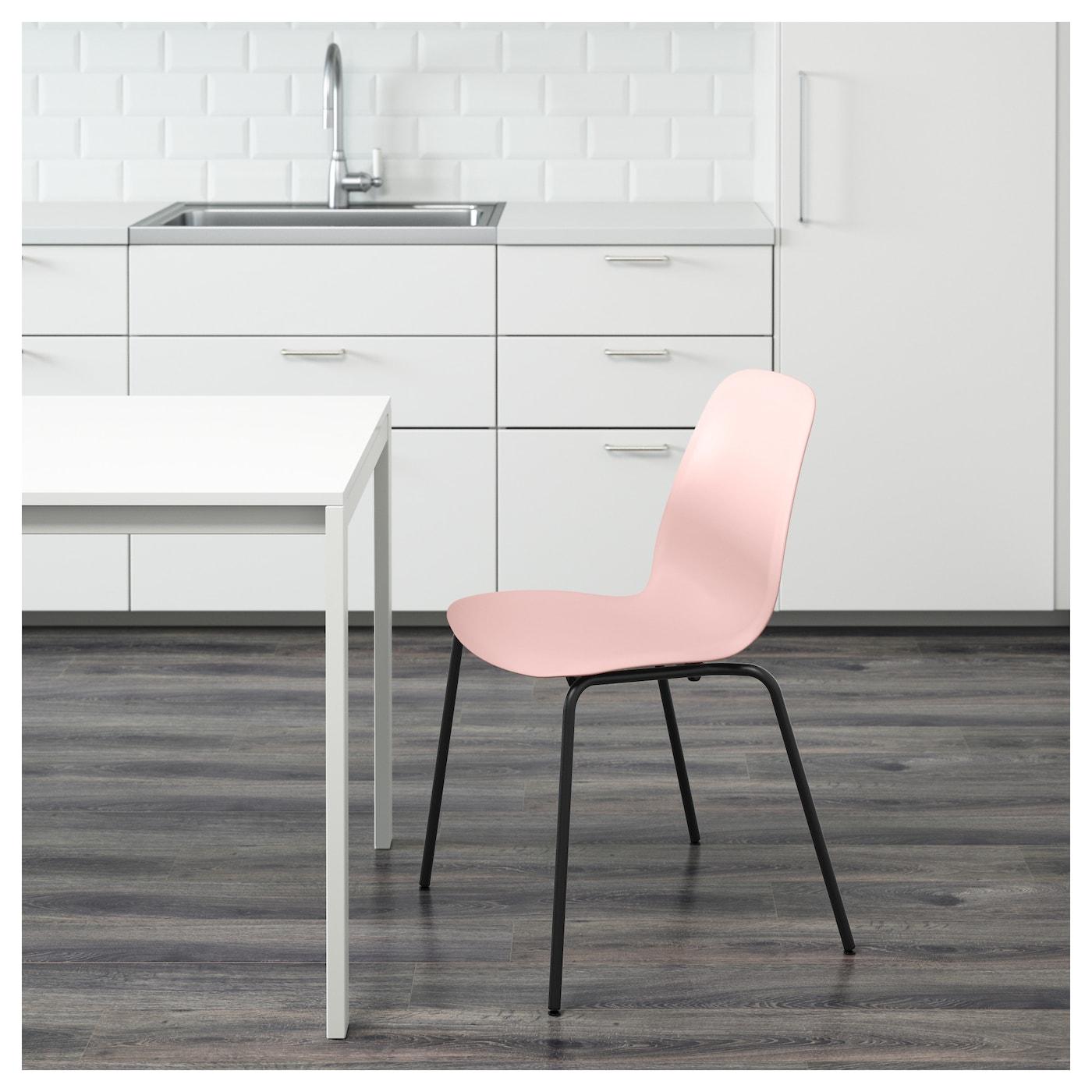 leifarne chaise rose broringe noir ikea. Black Bedroom Furniture Sets. Home Design Ideas