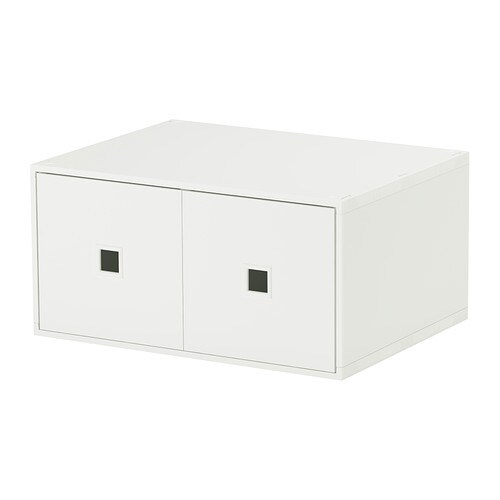 lekman mini commode 2 tiroirs blanc ikea. Black Bedroom Furniture Sets. Home Design Ideas