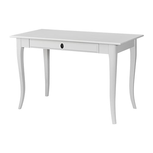 Leksvik bureau blanc 119x60 cm ikea for Schreibtisch 3 meter lang