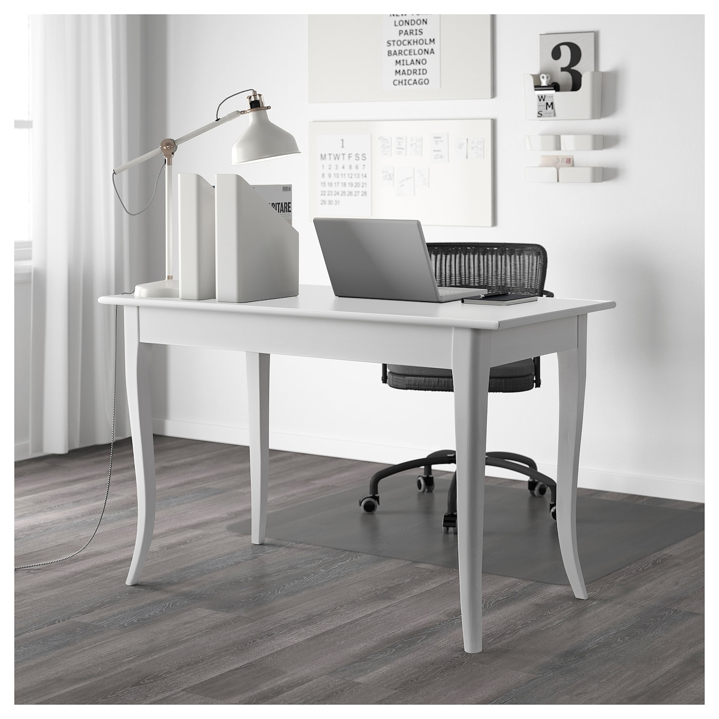 leksvik bureau blanc 119x60 cm ikea. Black Bedroom Furniture Sets. Home Design Ideas