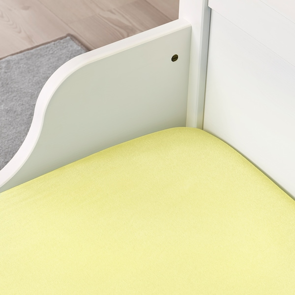 LEN Drap housse, jaune, 80x165 cm
