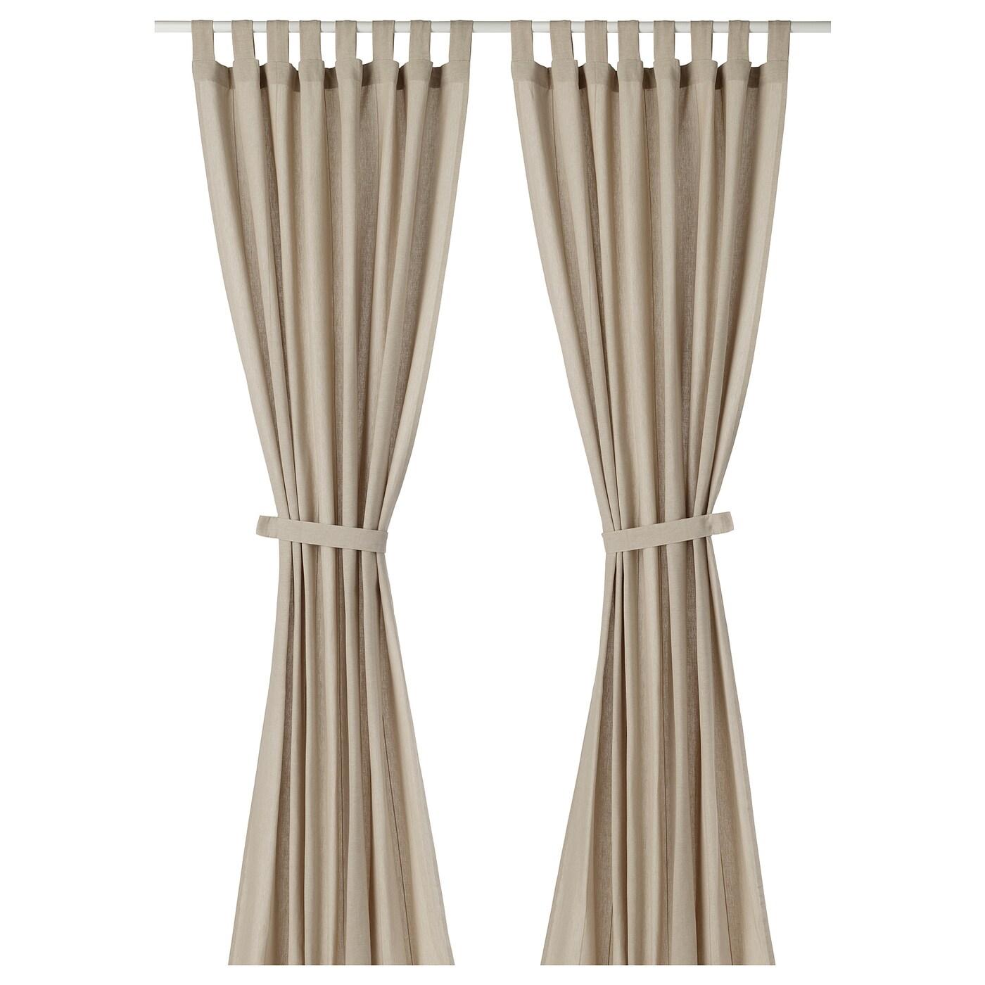 lenda rideaux embrasses 1 paire beige clair 140 x 300 cm ikea. Black Bedroom Furniture Sets. Home Design Ideas