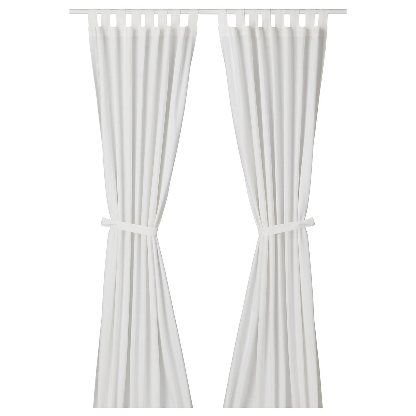 lenda rideaux embrasses 1 paire blanc 140 x 300 cm ikea