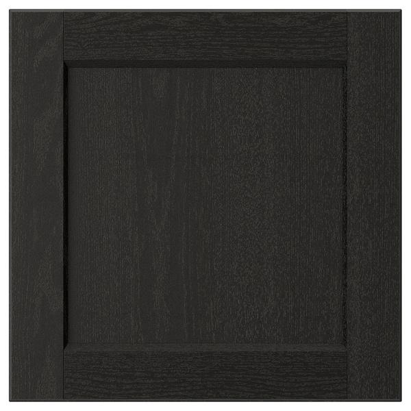 LERHYTTAN Porte, teinté noir, 40x40 cm