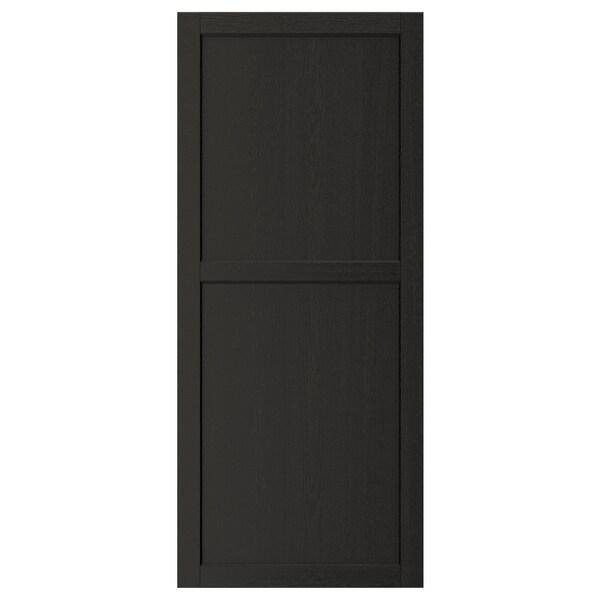 LERHYTTAN Porte, teinté noir, 60x140 cm