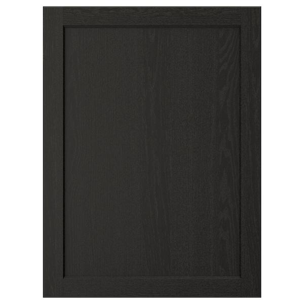 LERHYTTAN Porte, teinté noir, 60x80 cm