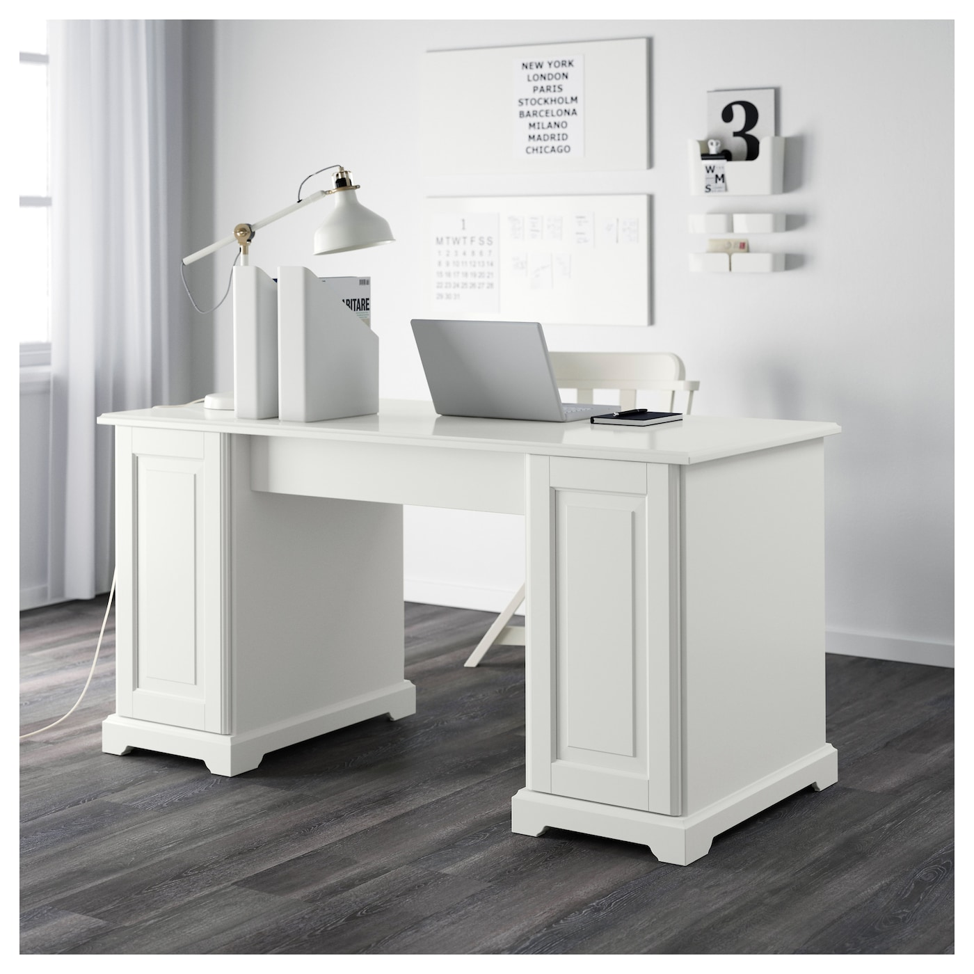 liatorp bureau blanc 145x65 cm ikea. Black Bedroom Furniture Sets. Home Design Ideas