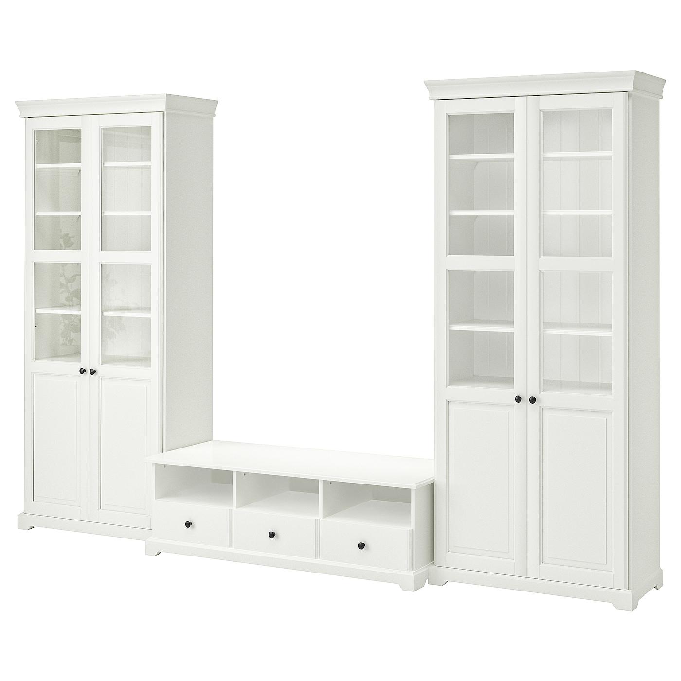 Liatorp combinaison meuble tv blanc 331 x 214 cm ikea - Ikea meuble tv blanc ...