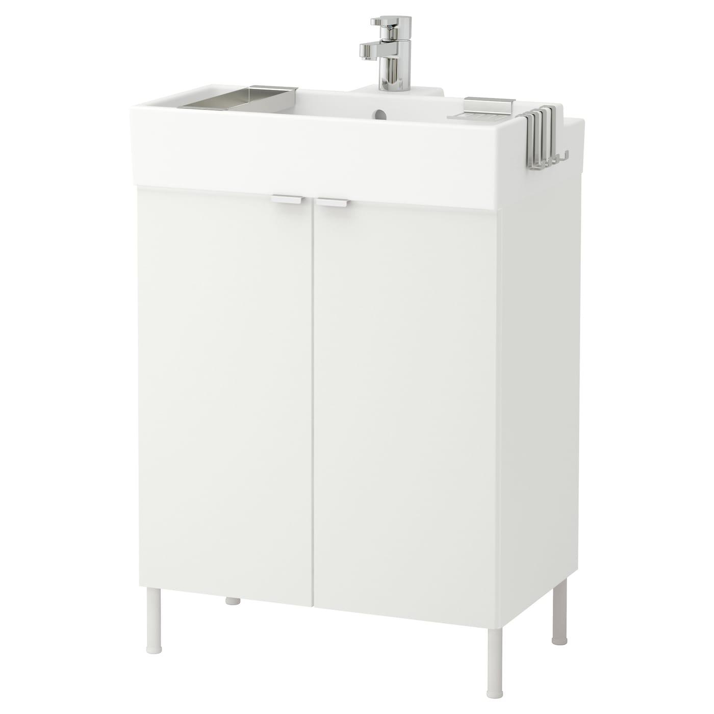 lill ngen l ment lavabo 2 portes blanc 60x41x87 cm ikea. Black Bedroom Furniture Sets. Home Design Ideas