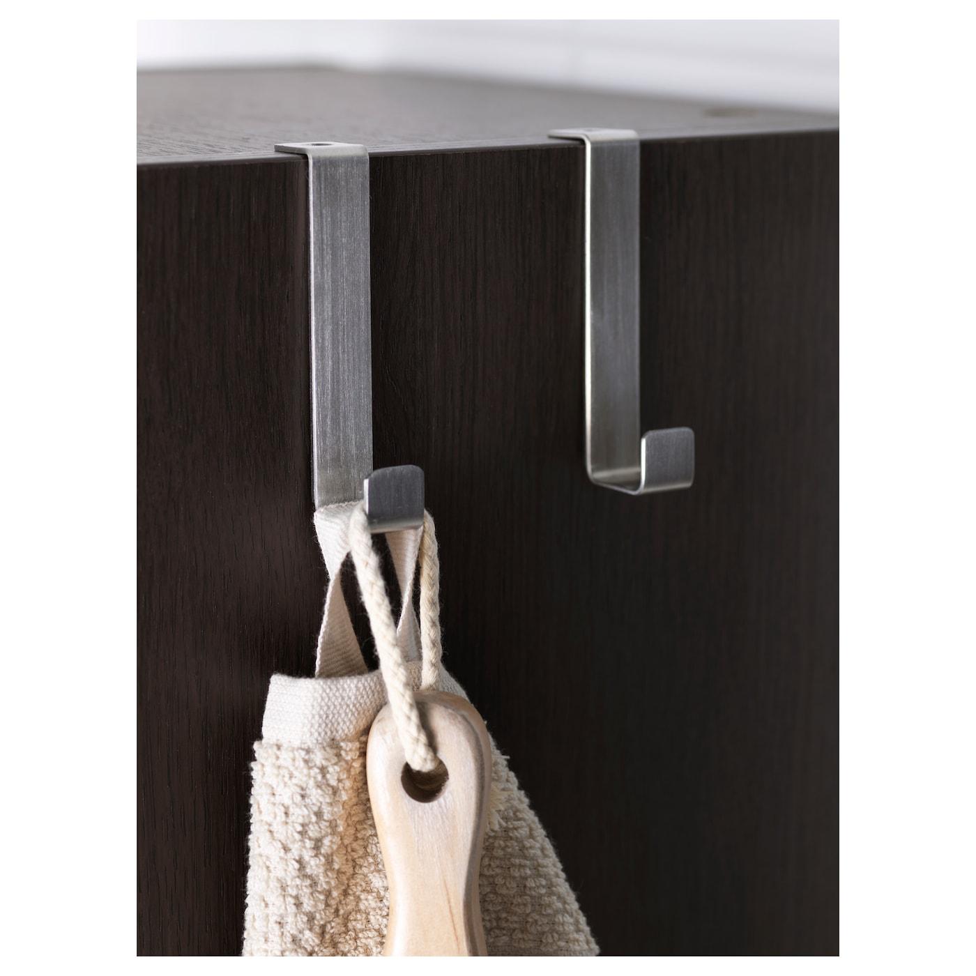 Lill ngen armoire avec porte miroir brun noir 30x21x179 cm for Miroir noir ikea