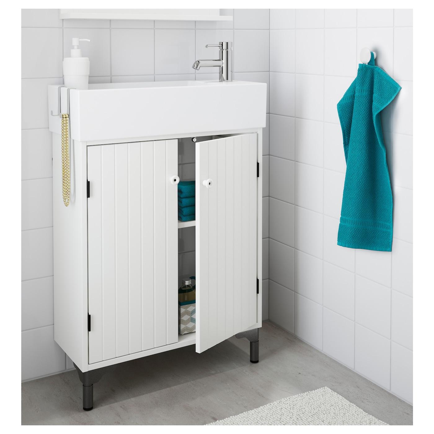 lill ngen silver n l ment lavabo 2 portes blanc 62 x 27 x 94 cm ikea. Black Bedroom Furniture Sets. Home Design Ideas