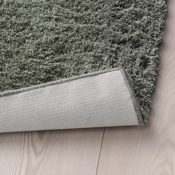 LINDKNUD Tapis, poils hauts, gris foncé, 80x150 cm