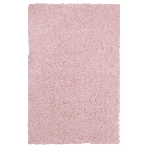 LINDKNUD Tapis, poils hauts, rose, 60x90 cm