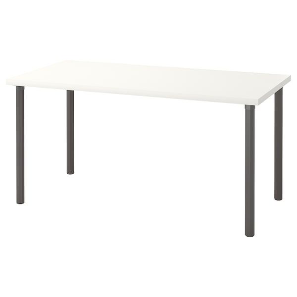 LINNMON / ALVARET Table, blanc/gris, 150x75 cm