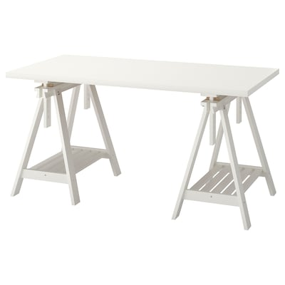 LINNMON / FINNVARD Table, blanc, 150x75 cm
