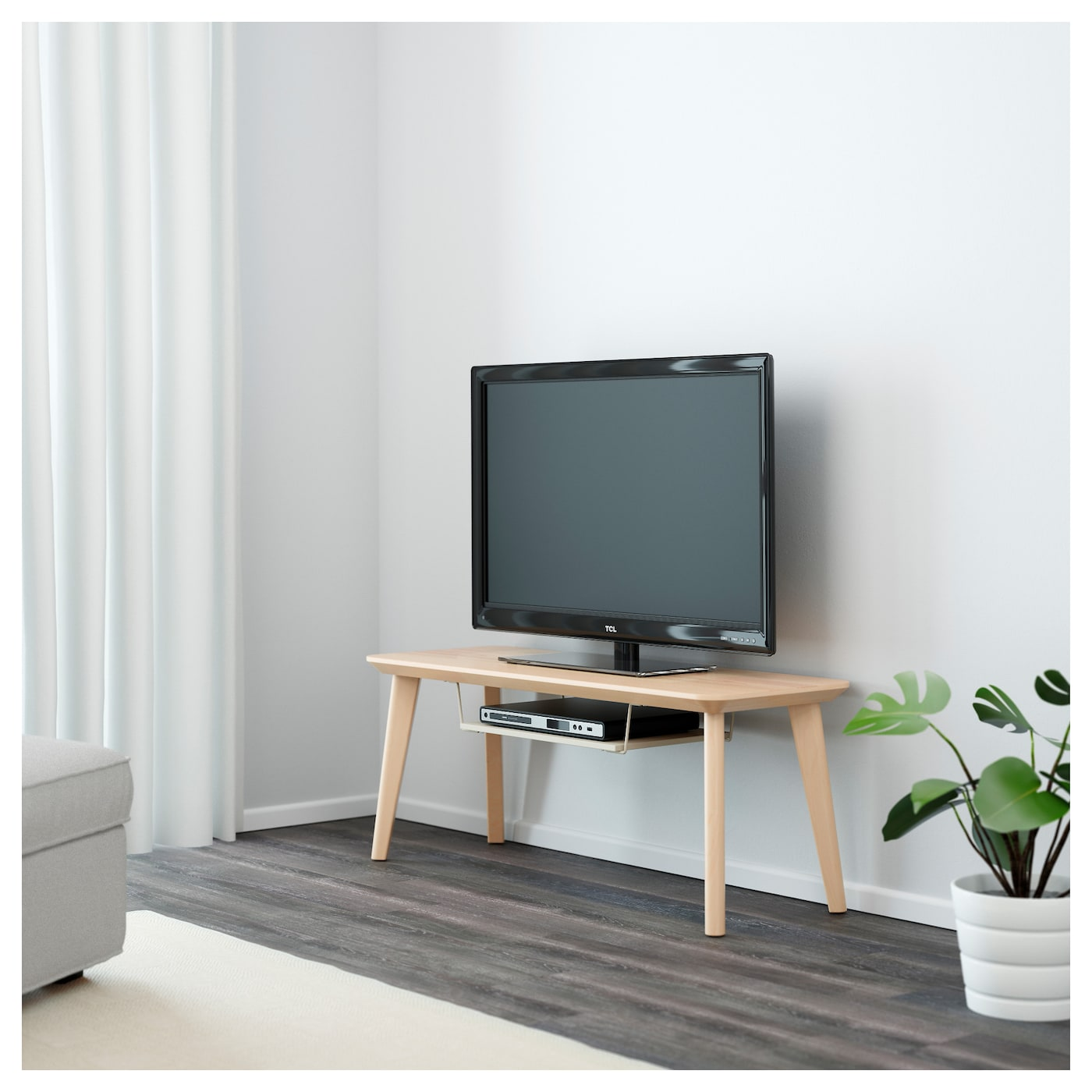 lisabo banc tv plaqué frêne 114 x 40 x 45 cm - ikea