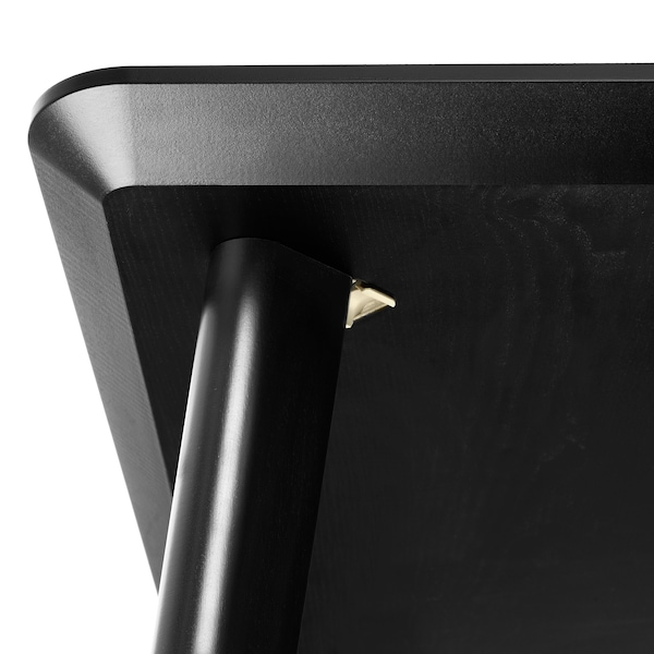 LISABO / ODGER Table et 4 chaises, noir/beige, 140x78 cm