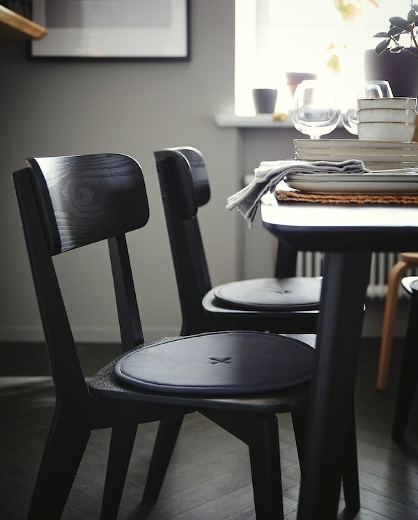 LISABO Table, noir, 140x78 cm