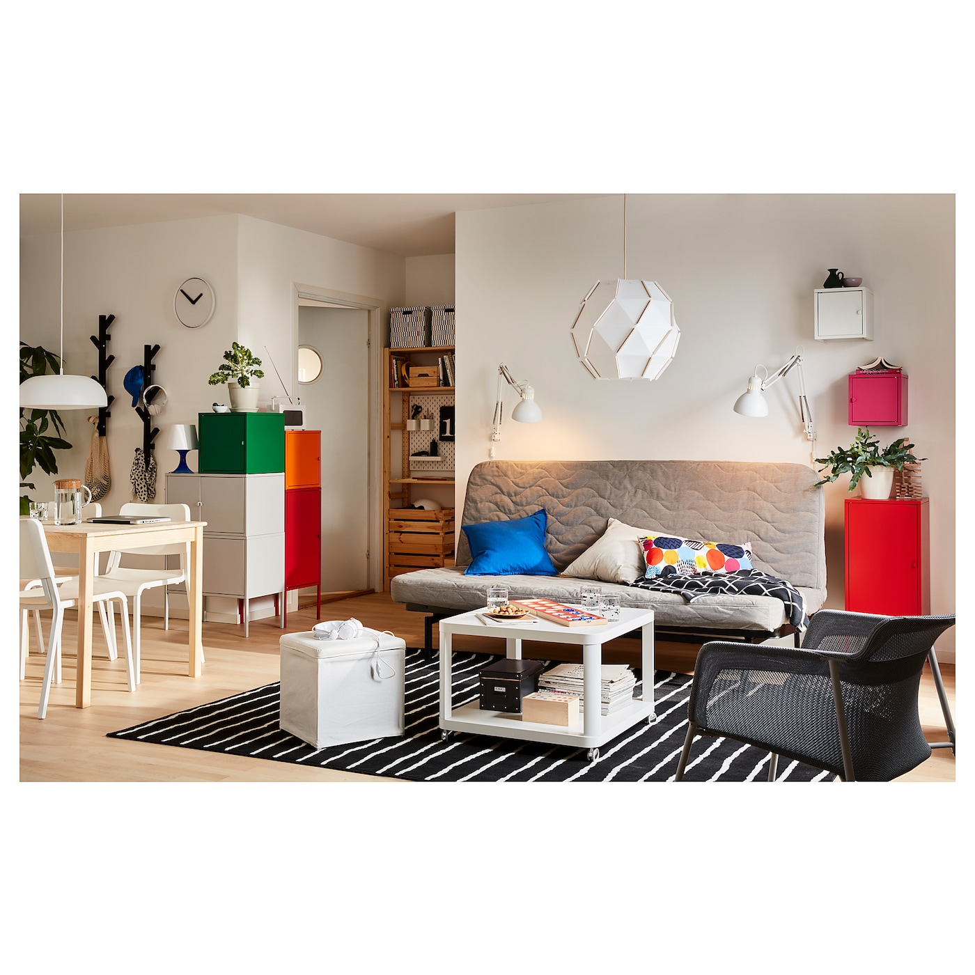 lixhult combinaison de rangement gris vert fonc rouge orange 95x127 cm ikea. Black Bedroom Furniture Sets. Home Design Ideas