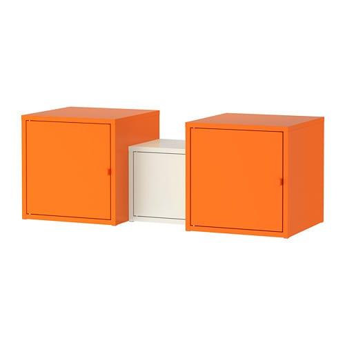 lixhult combinaison de rangement orange blanc 95 x 35 cm ikea. Black Bedroom Furniture Sets. Home Design Ideas