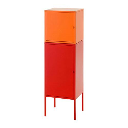 Lixhult Combinaison De Rangement Rouge Orange Ikea