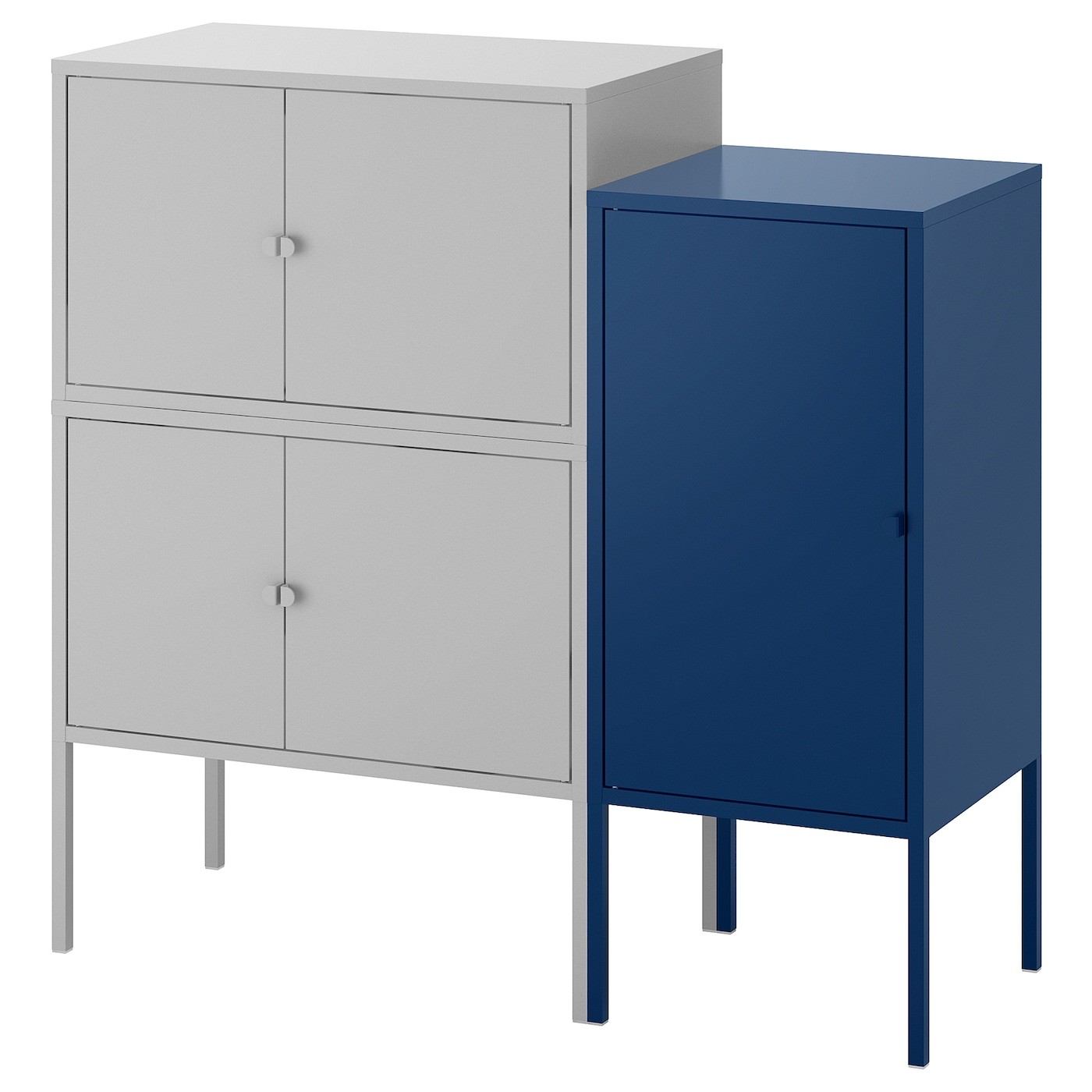 lixhult combinaison rangement gris bleu fonc 95x35x92 cm ikea. Black Bedroom Furniture Sets. Home Design Ideas