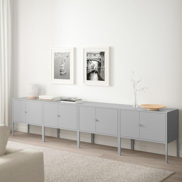 LIXHULT Combinaison rangement, gris, 120x35x92 cm