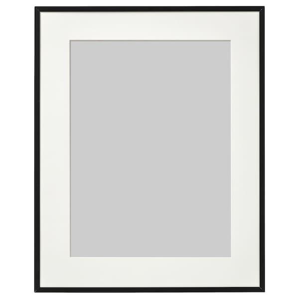 LOMVIKEN Cadre, noir, 40x50 cm